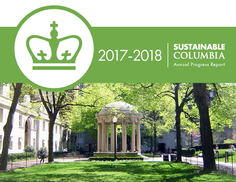 Sustainable Columbia Annual Progress Report Cover 2017-18