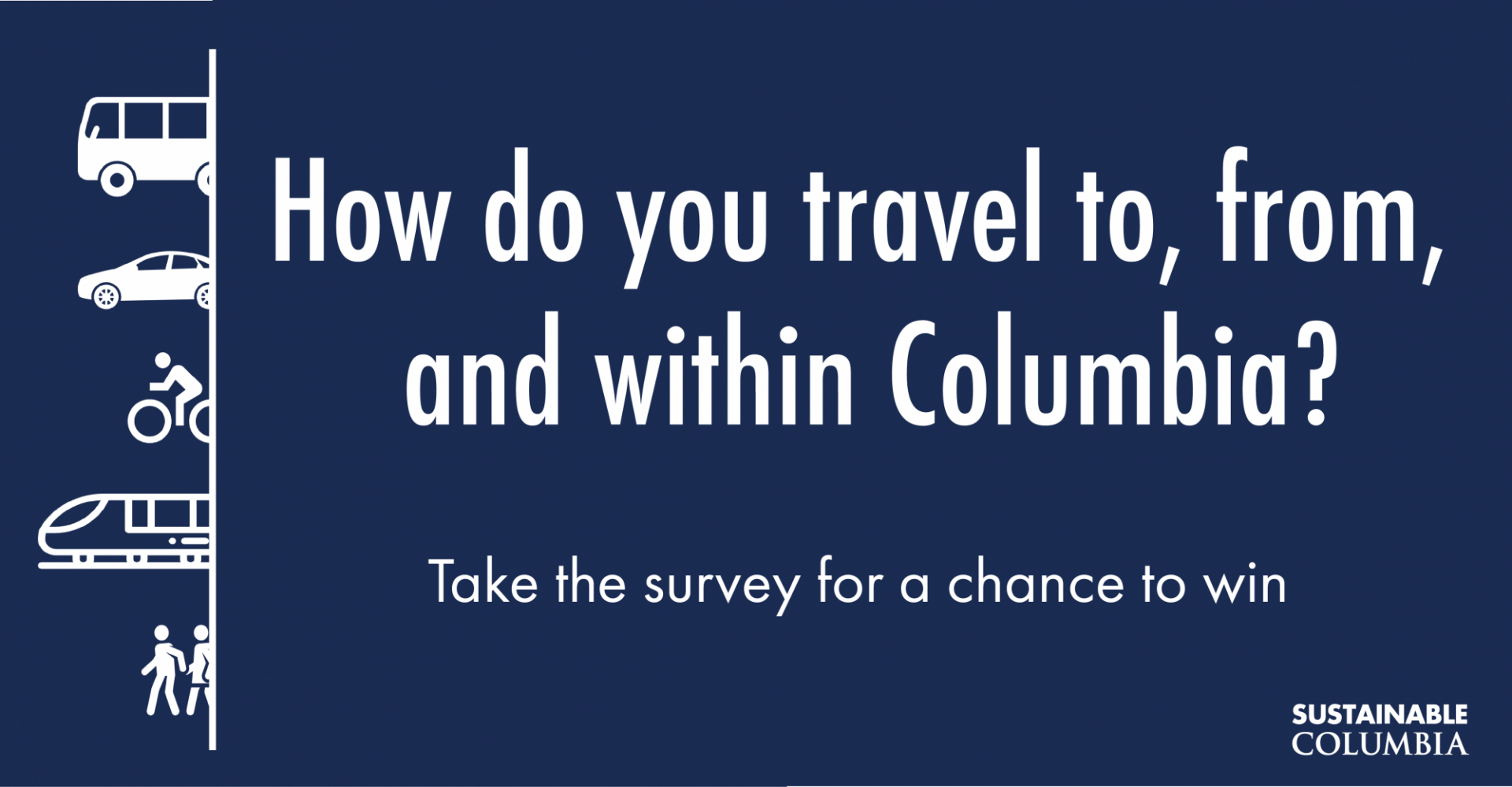 How do you travel to, from, and within Columbia?