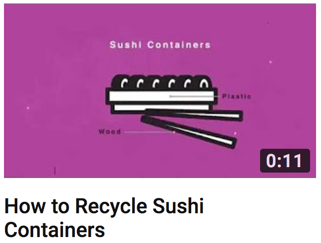 How to Recycle Sushi Containers