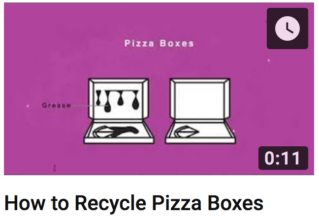 How to Recycle Pizza Boxes