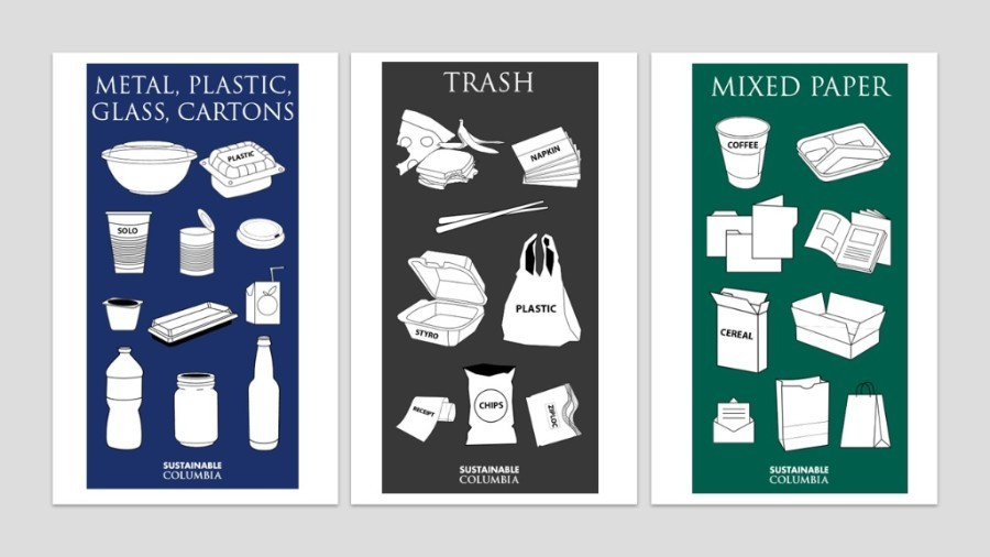 Columbia Launches Updated Recycling Signage